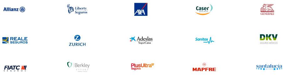 seguros Allianz -seguros Liberty - seguros AXA - seguros Caser - seguros Zurich - seguros Adeslas - seguros Sanitas - seguros MAPFRE - seguros Generali - seguros Santalucia - seguros Reale - seguros FIATC - seguros Berkley    | Seguros PBF